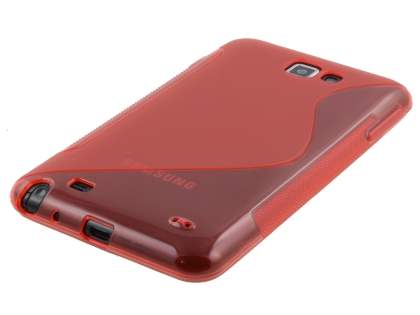 Samsung I9220 Galaxy Note Wave Case - Red/Frosted Red