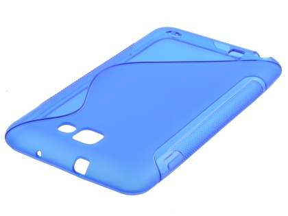 Samsung I9220 Galaxy Note Wave Case - Blue/Frosted Blue