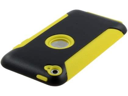 iPod Touch 4G Impact Case - Yellow/Classic Black