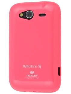 Mercury Goospery Glossy Gel Case for HTC Wildfire S - Hot Pink Soft Cover