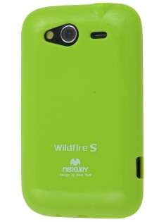 Mercury Goospery Glossy Gel Case for HTC Wildfire S - Lime Green Soft Cover