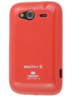 Mercury Goospery Glossy Gel Case for HTC Wildfire S - Red Soft Cover