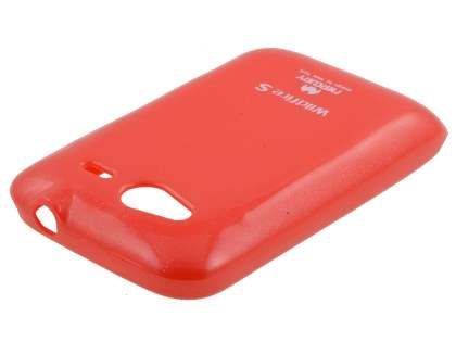 Mercury Glossy Gel Case for HTC Wildfire S - Red