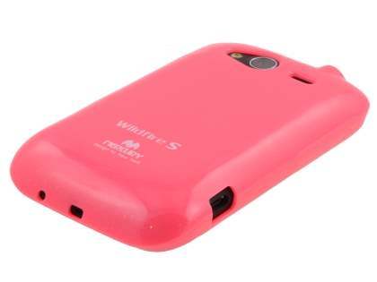 Mercury Glossy Gel Case for HTC Wildfire S - Hot Pink