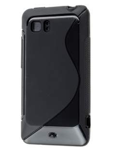 HTC Velocity 4G Wave Case - Frosted Black/Black Soft Cover