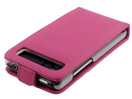 HTC Velocity 4G Genuine Leather Flip Case - Pink