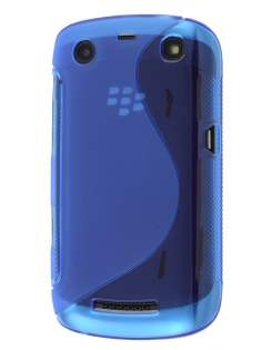 BlackBerry Curve 9360 Wave Case - Frosted Ocean Blue/Ocean Blue Soft Cover