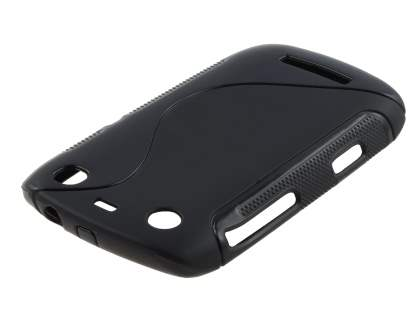 BlackBerry Curve 9360 Wave Case - Black/Frosted Black