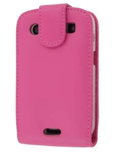 BlackBerry Bold 9900 Genuine Leather Flip Case - Pink Leather Flip Case