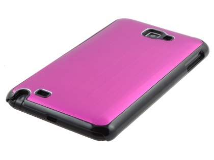 Samsung I9220 Galaxy Note Brushed Aluminium Case  - Hot Pink