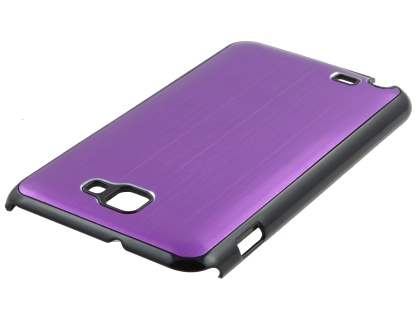 Samsung I9220 Galaxy Note Brushed Aluminium Case  - Purple
