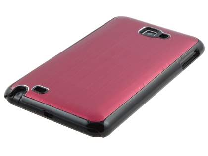 Samsung I9220 Galaxy Note Brushed Aluminium Case - Red