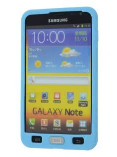 Samsung  I9220 Galaxy Note Silicone Rubber Case - Sky Blue