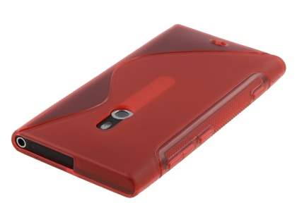 Nokia Lumia 800 Wave Case - Frosted Red/Red