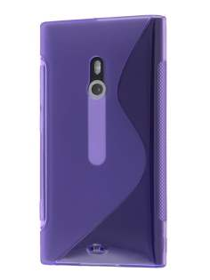 Nokia Lumia 800 Wave Case - Purple/Frosted Purple Soft Cover