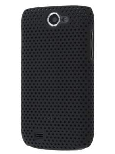 Samsung Galaxy W I8150  Slim Mesh Case - Classic Black Hard Case