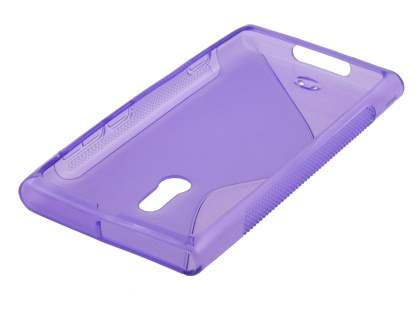 Nokia Lumia 800 Wave Case - Purple/Frosted Purple