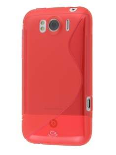 HTC Sensation XL Wave Case - Frosted Red/Red Soft Cover