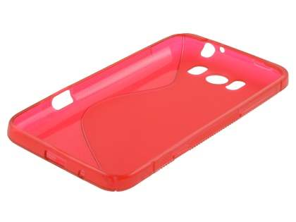 HTC Sensation XL Wave Case - Frosted Red/Red