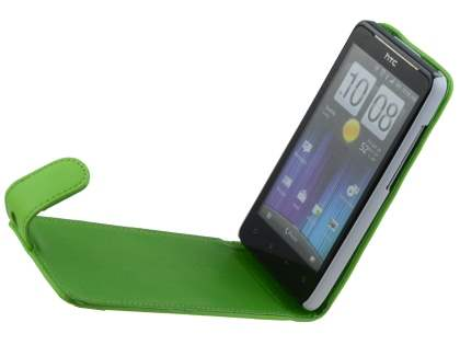 HTC Velocity 4G Synthetic Leather Flip Case - Green