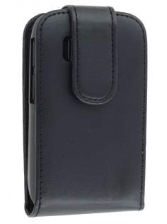 HTC Explorer Synthetic Leather Flip Case - Black Leather Flip Case