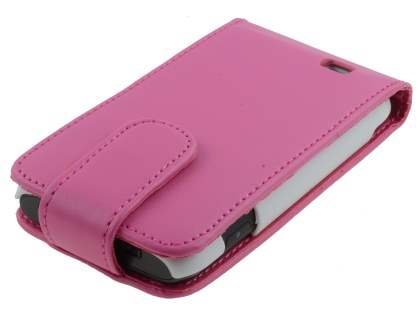 Samsung Galaxy W I8150 Synthetic Leather Flip Case - Pink