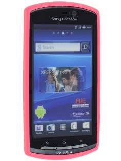 Mercury Glossy Gel Case for Sony Ericsson Xperia neo MT15i - Hot Pink