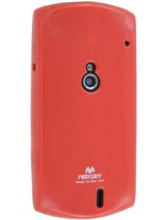 Mercury Goospery Glossy Gel Case for Sony Ericsson Xperia neo MT15i - Red Soft Cover