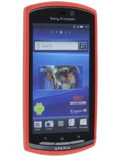 Mercury Glossy Gel Case for Sony Ericsson Xperia neo MT15i - Red