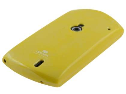 Mercury Glossy Gel Case for Sony Ericsson Xperia neo MT15i - Canary Yellow