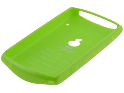 Mercury Glossy Gel Case for Sony Ericsson Xperia neo MT15i - Lime Green