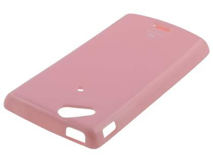 Mercury Glossy Gel Case for Sony Ericsson XPERIA Arc/Arc S - Baby Pink