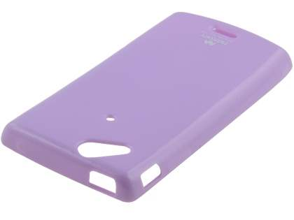 Mercury Glossy Gel Case for Sony Ericsson XPERIA Arc/Arc S - Light Purple