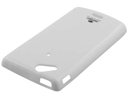 Mercury Glossy Gel Case for Sony Ericsson XPERIA Arc/Arc S - Pearl White