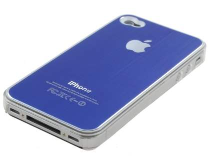 Brushed Aluminium Case for iPhone 4 only - Ocean Blue