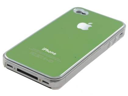 Brushed Aluminium Case for iPhone 4 only - Green
