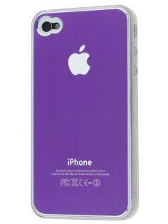 Brushed Aluminium Case for iPhone 4 only - Purple