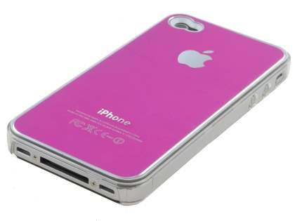 Brushed Aluminium Case for iPhone 4 only - Pink