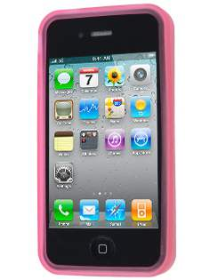 Frosted TPU Gel Case for iPhone 4S/4 - Frosted Pink