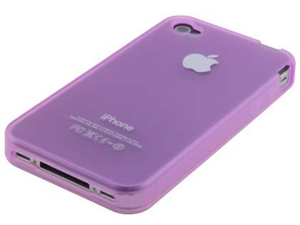 Frosted TPU Gel Case for iPhone 4S/4 - Frosted Purple