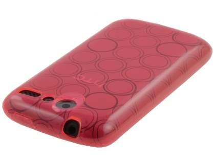 HTC Desire A8183 TPU Gel Case - Frosted Pink