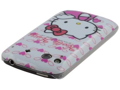HTC Desire S Hello Kitty Back Case - White/Pink