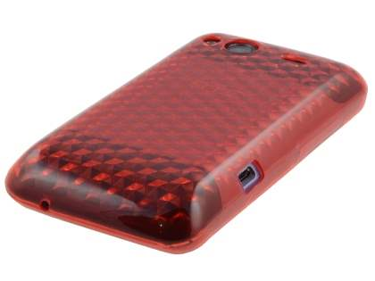 HTC Salsa TPU Gel Case - Diamond Red