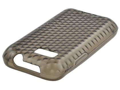 Motorola DEFY TPU Gel Case - Diamond Grey
