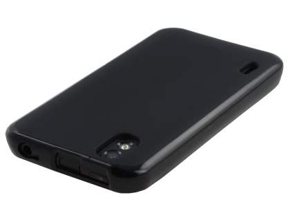 LG Optimus Black P970 Frosted Colour TPU Gel Case - Black