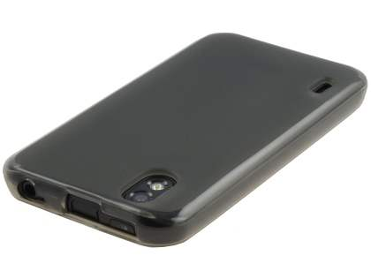 LG Optimus Black P970 Frosted Colour TPU Gel Case - Grey/Frosted Grey