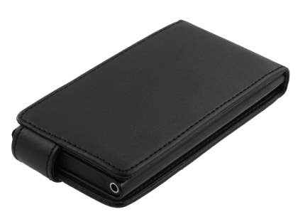 Nokia Lumia 800 Synthetic Leather Flip Case - Black