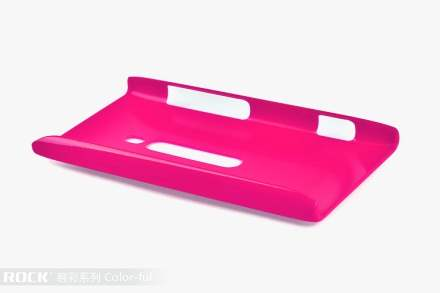 ROCK Nakedshell Colour Case for Nokia Lumia 800 - Glossy Pink