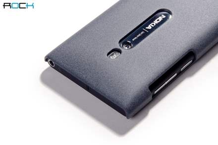 ROCK Quicksand Sand Blasted Hard Case for Nokia Lumia 800 - Slate Grey