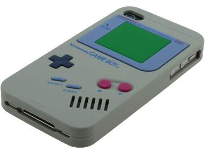 Nintendo Game Boy-style case for iPhone 4S/4 - Grey